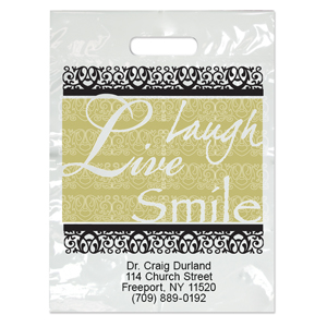 Imprinted Large Fancy Laugh Bags