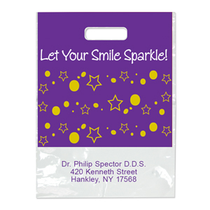 Imprinted Small Smile Sparkle! Bag