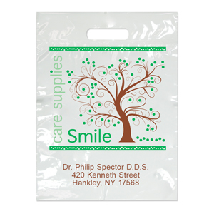 Imprinted Small Tree Smiles Bag