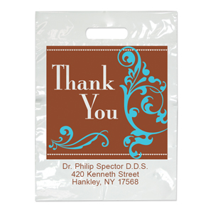 Imprinted Small Sincere Thanks Bag