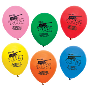 Imprinted Brush Balloons