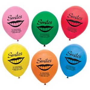 Imprinted Personalized Lip Balloons