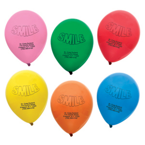 Imprinted Personalized Smile Balloons
